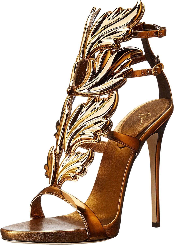 a216ea8d1f7d4 Giuseppe Zanotti Women s Metal Wing Sandals - Wing-like plates put a  striking