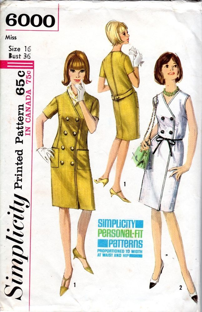 Vintage Simplicity Pattern 40 Button Coat Dress Size 40 Sewing Awesome Simplicity Patterns Vintage