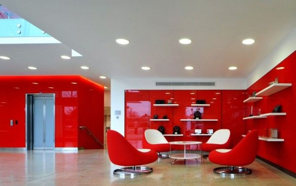 Morgan Lovell Paints The New Rackspace Office Red With Flamboyant British Flavored Design