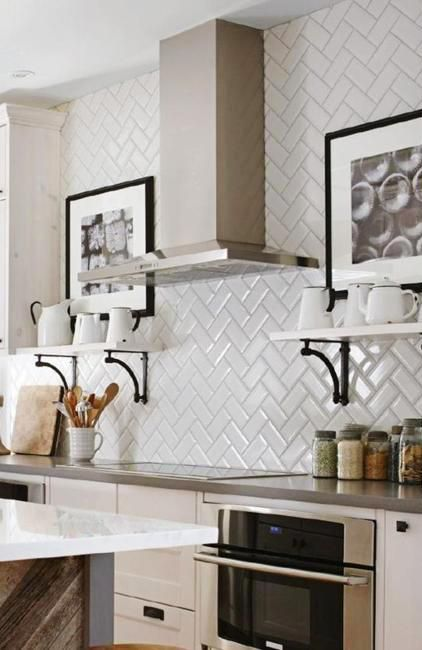 Modern Decoration Patterns Created with Tiles Adding Flair to White