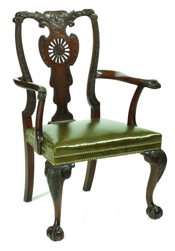 Irish Chippendale Reproduction Dining Chairs Georgian Furniture