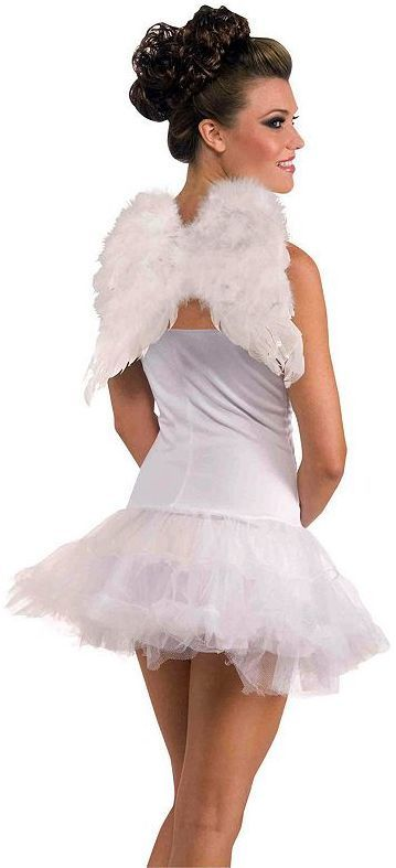 Dress up as a fairy or an angel this Halloween wearing these feather - angel halloween costume ideas