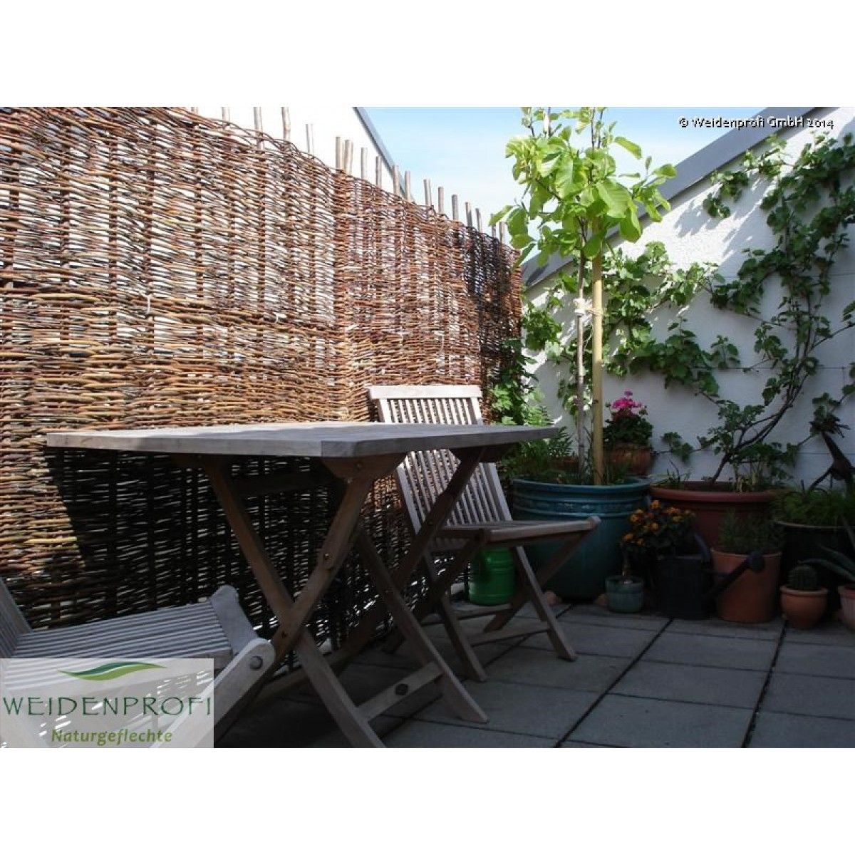 Naturzaun Weide BALDO Sichtschutz für Balkon