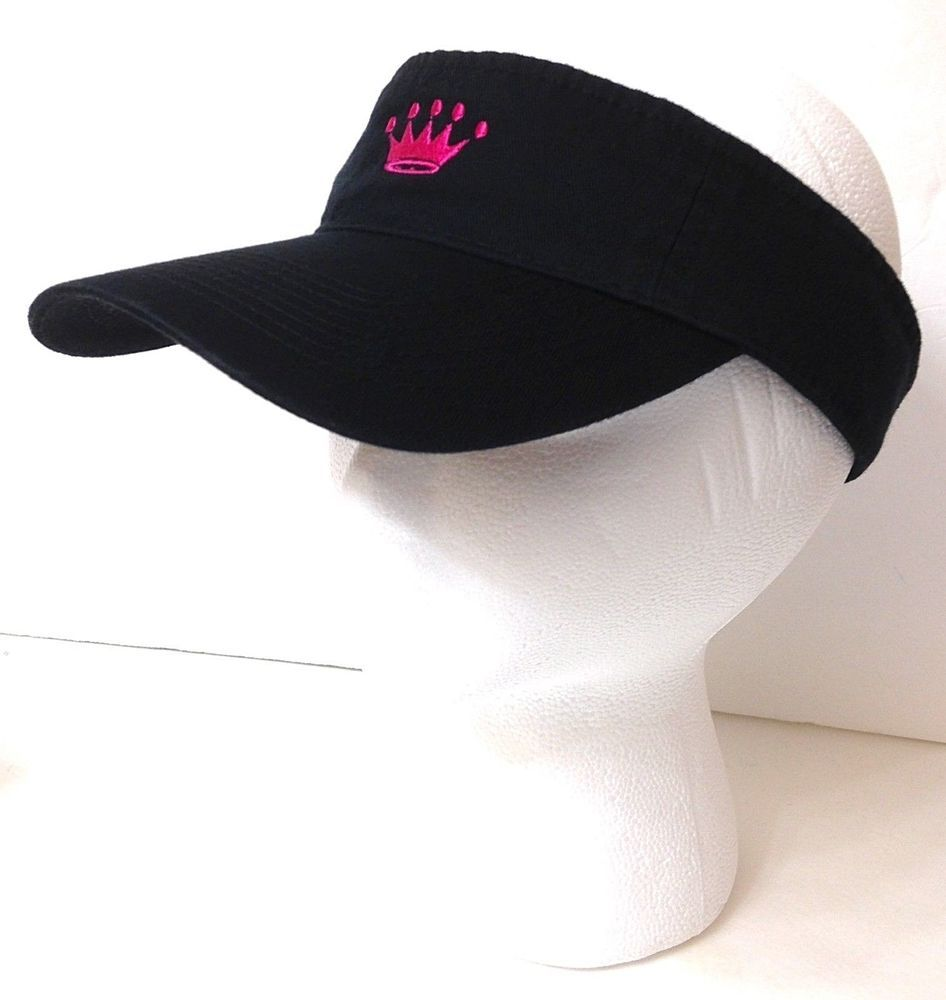Women Ladies CROWN VISOR Black Pink Sun Golf Beach Hat Queen Bachelorette  Party  Nike  Visor  Golf 0cc438d1f2