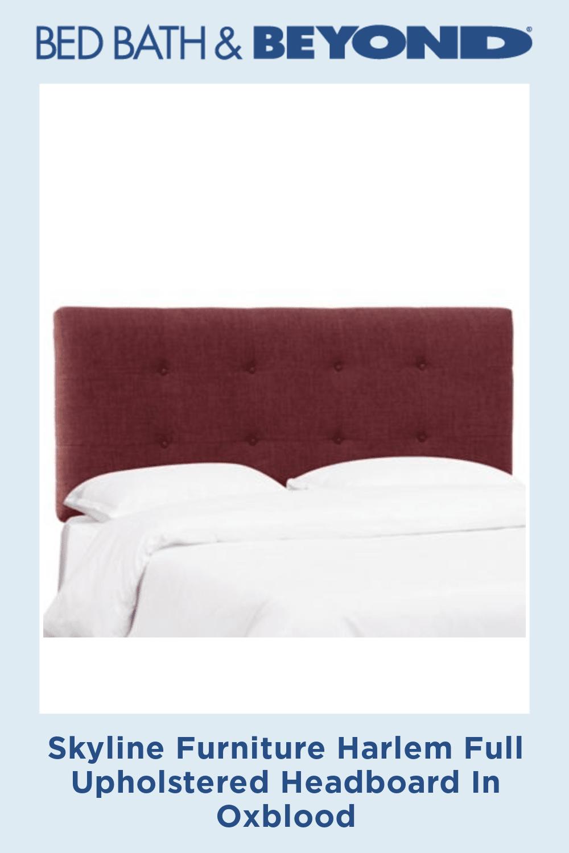 Skyline Furniture Harlem Full Upholstered Headboard In