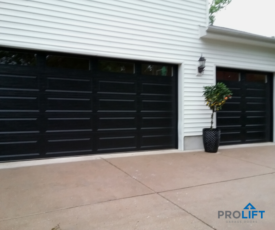 New Black Garage Doors For Modern Curb Appeal In 2020 Garage Door Colors Garage Doors Black Garage Doors