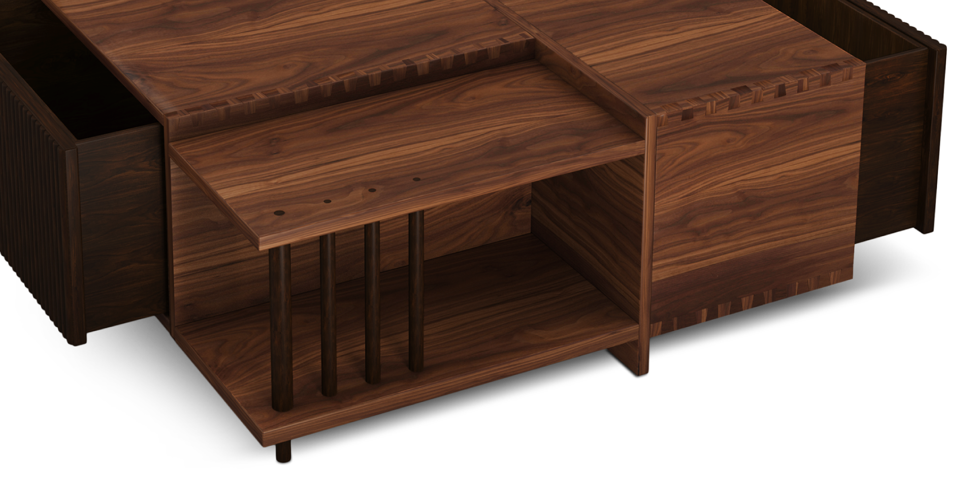 Douglas Center Table Meticulously Handcrafted In Walnut Wood