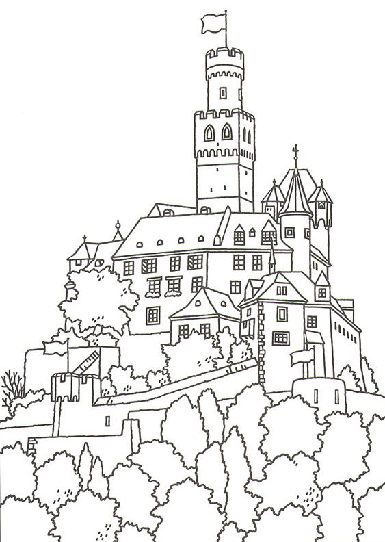 Great Castles - Games - Castle Coloring Book | Germany camp day ...