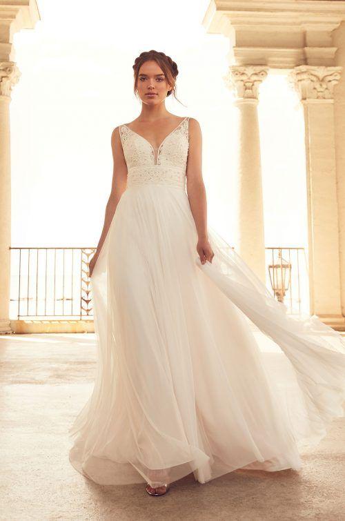 Flowing Empire Wedding Dress - Style #4788 | Empire wedding dresses ...