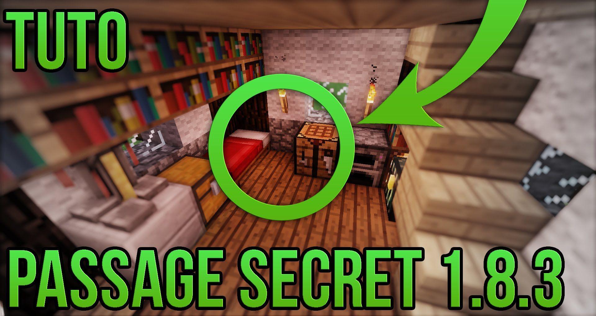 Comment Créer Un Passage Secret passage secret 1.8.3 facile! | minecraft | passage secret