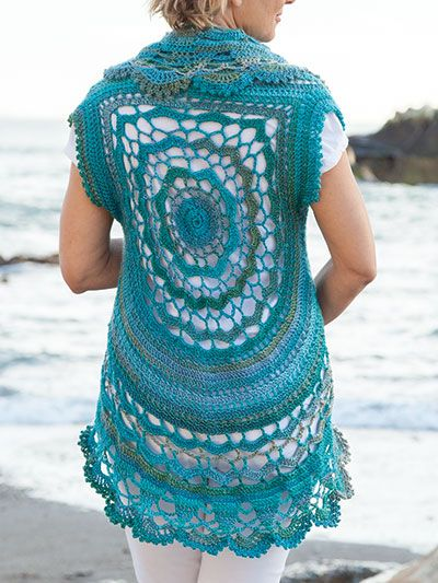 Oceano Circle Vest Crochet Pattern From Annie S Summer