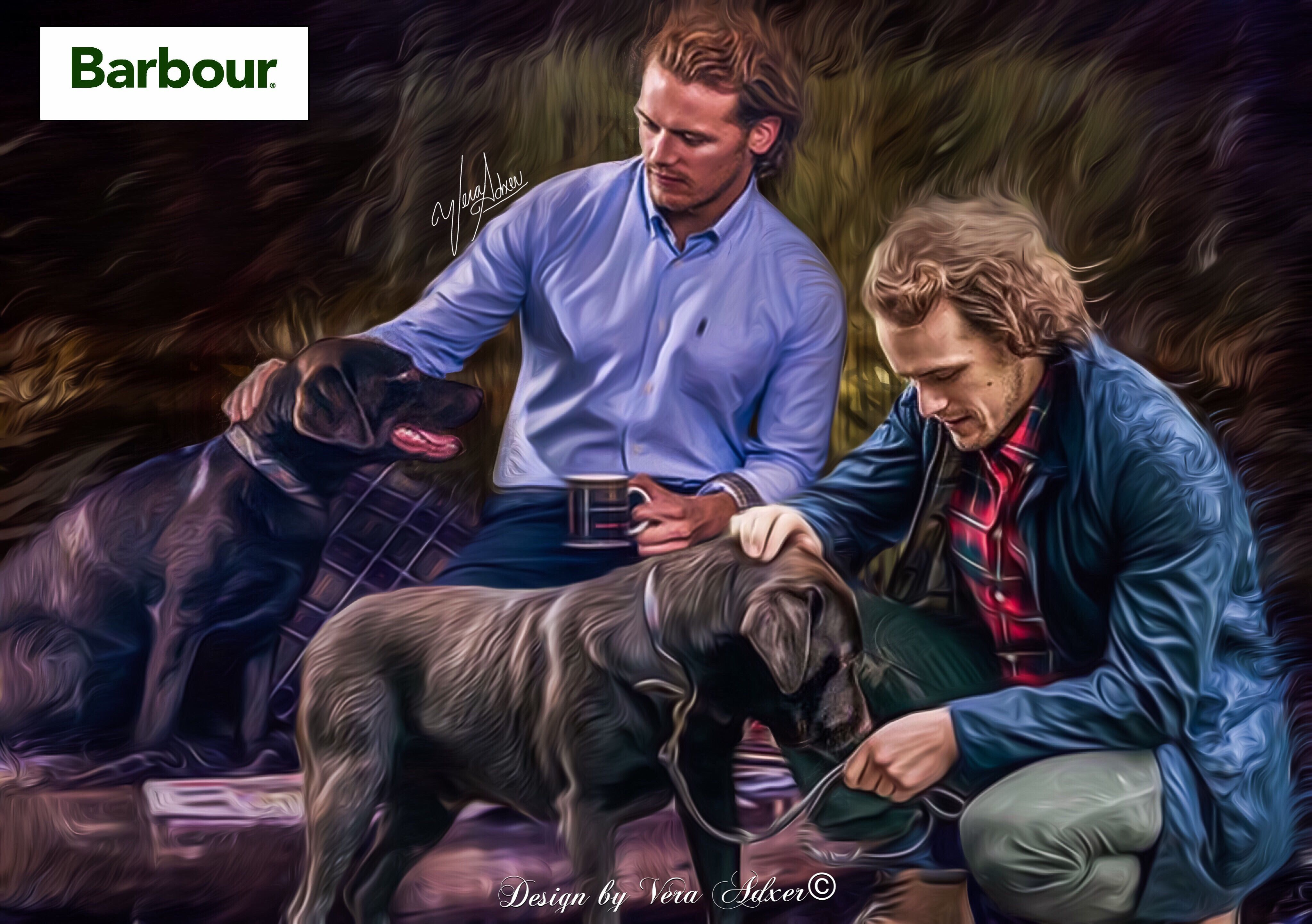 Fan art by ©Vera Adxer of Sam Heughan