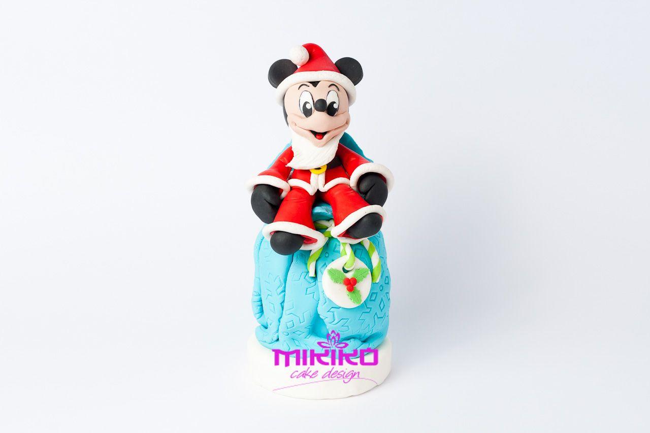 topolino natalizio in pasta di zucchero