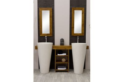 meuble salle de bain teck osiris double vasque
