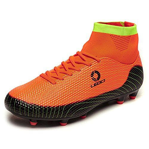 080d2fbf6 Deal! Aleader Men s Leather Fg Soccer Cleats Football Training Boots ...