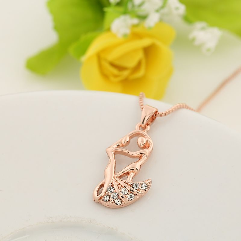 The new personality fashion womens rose gold collar bone necklace