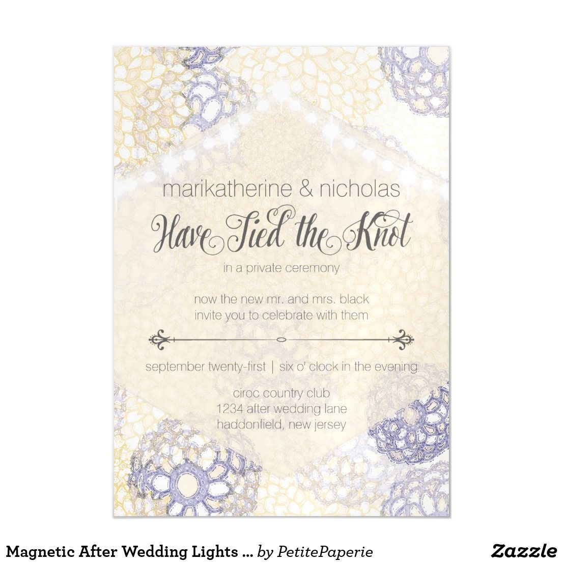 After Wedding Lights & Flowers Invitation