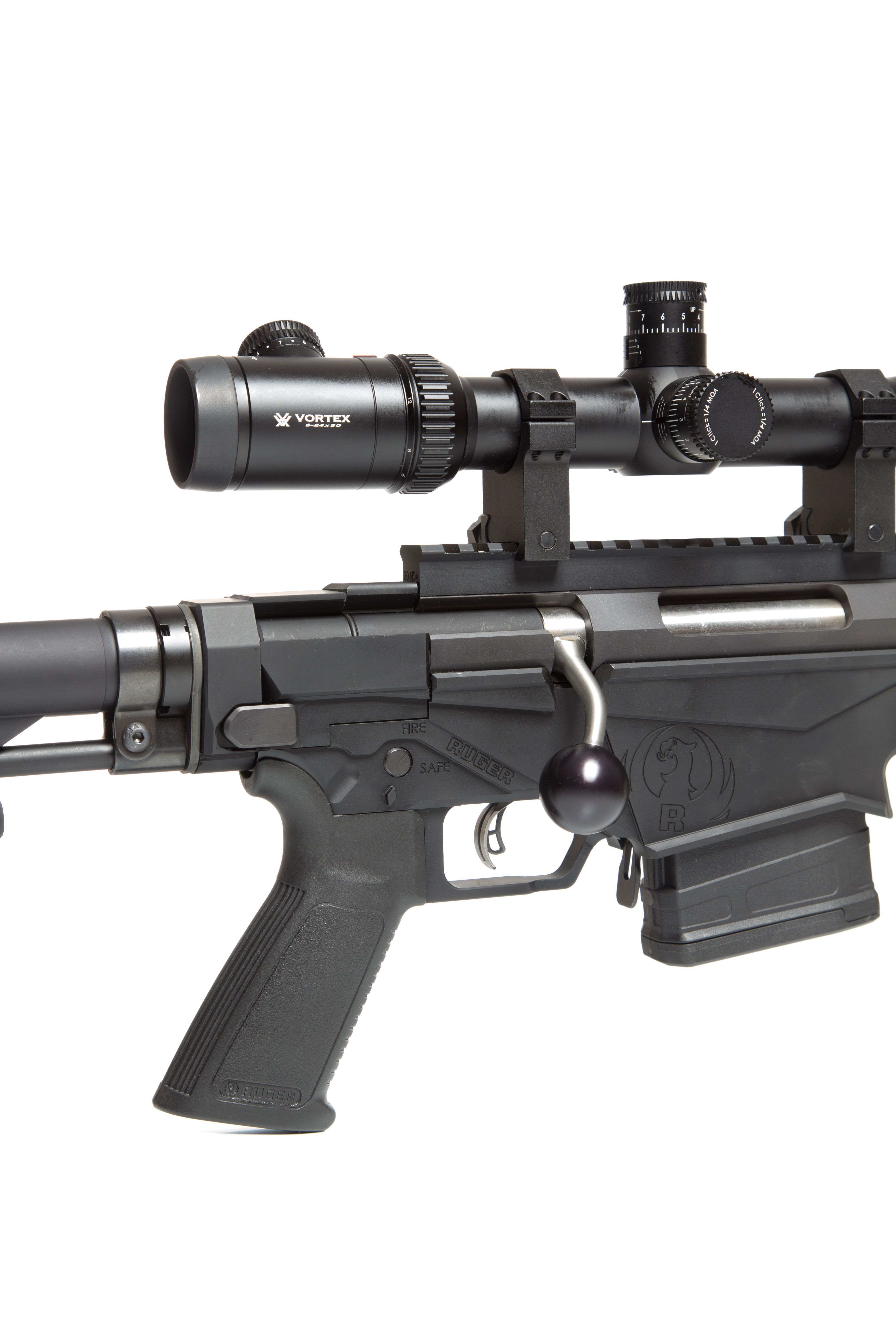 ruger precision rifle right hand stainless swept back ball handle
