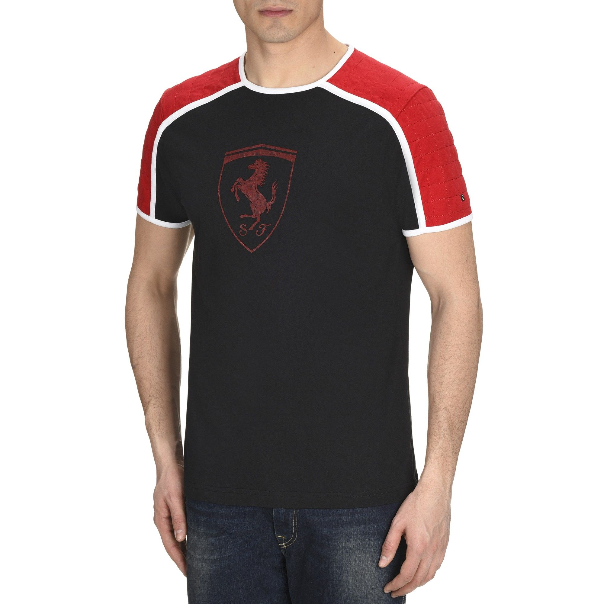 Genuine Ferrari T-Shirt In Red With Scuderia Shield On Front
