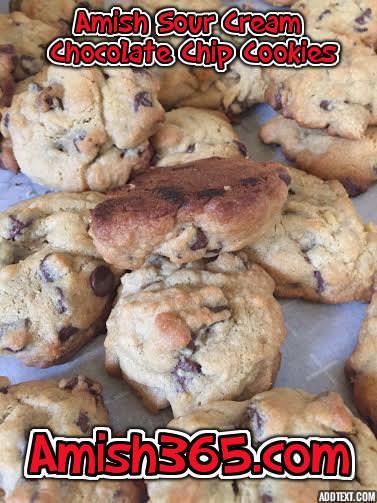 Sour Cream Chocolate Chip Cookies Recipe Amish Recipes Sour Cream Recipes Cookie Swap Recipes