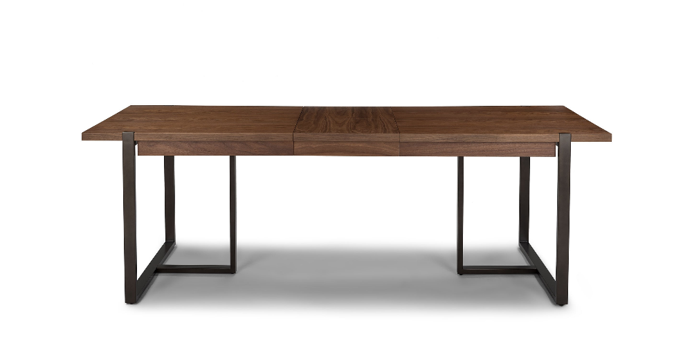 Oscuro Walnut Extendable Dining Table Simple Dining Table
