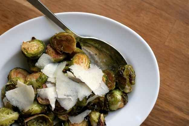 Balsamic Roasted Brussels Sprouts with Mustard Vinaigrette   27 Brussels Sprout Recipes That Want To Celebrate Thanksgiving With You