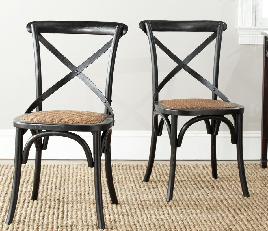 Essie upholstered dining chair with images black