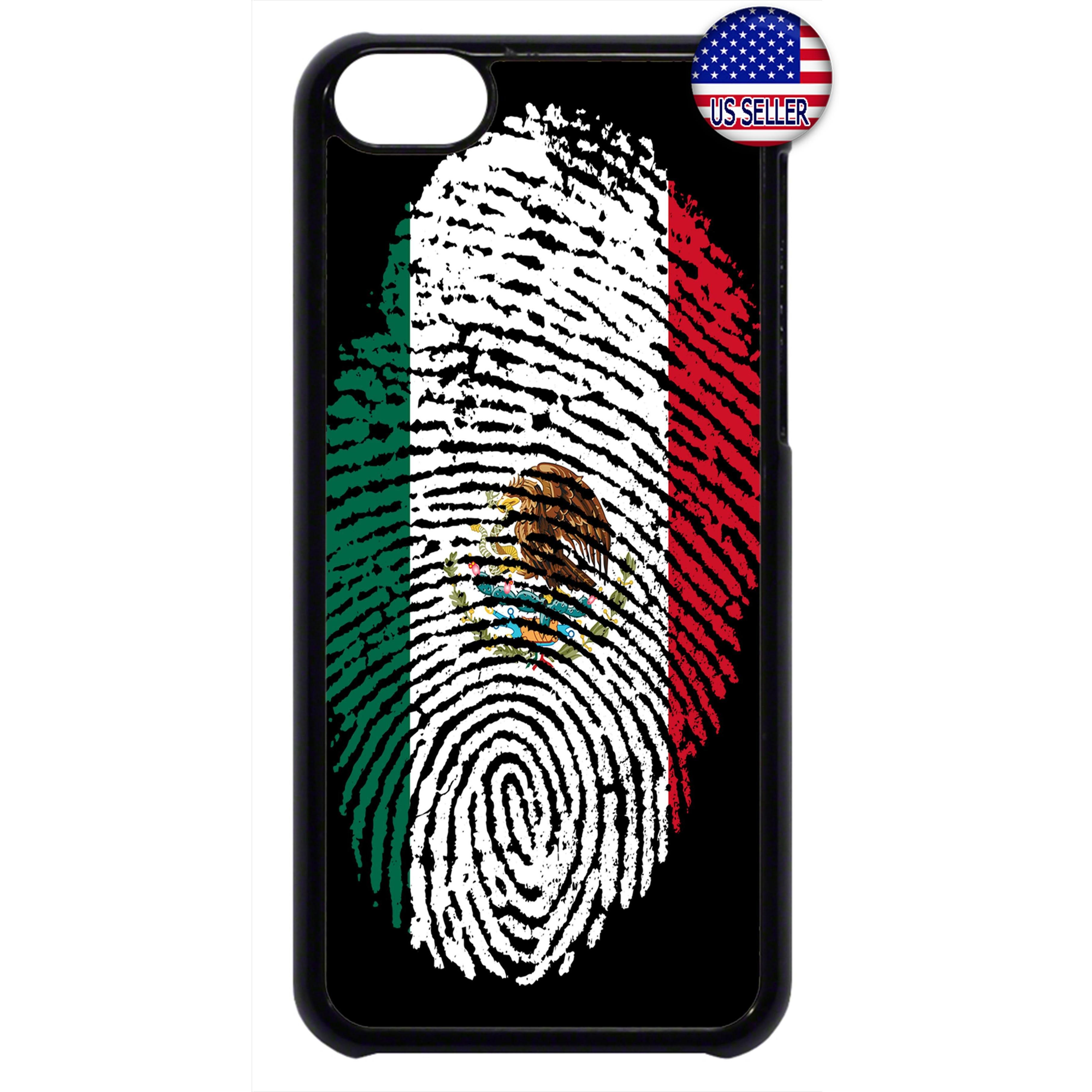 Mexico Flag Finger Print Rubber Case Cover For Ipod Touch