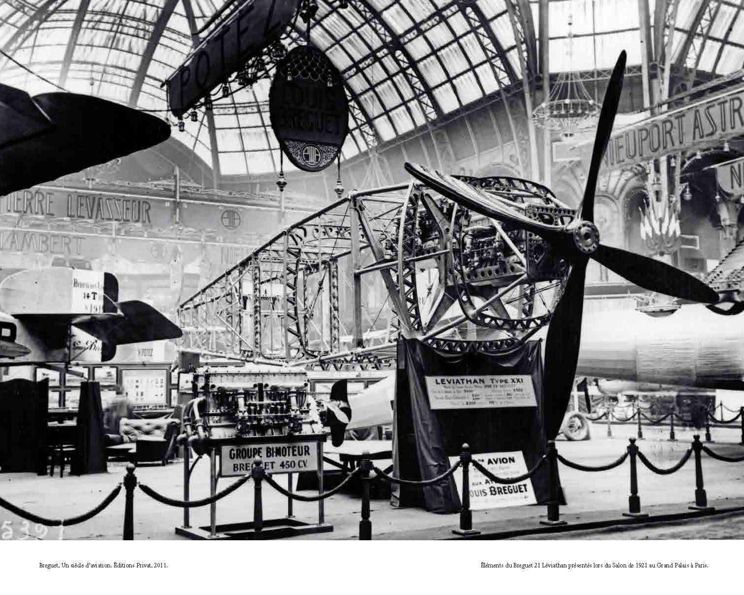 El ments du breguet 21 l viathan pr sent s lors du salon for Salon exposition paris