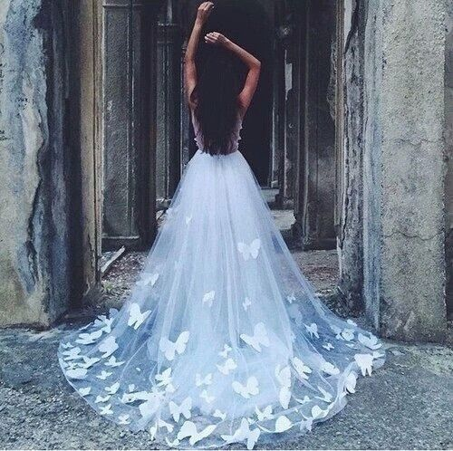 Girl in long dress tumblr