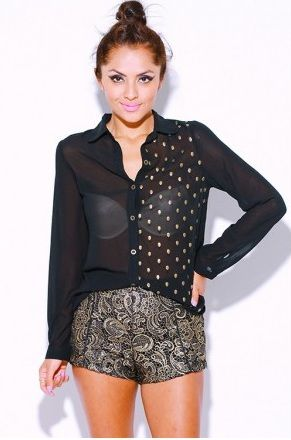 5 Chic Sheer Chiffon Tops For Spring/Summer 2013 Under $25