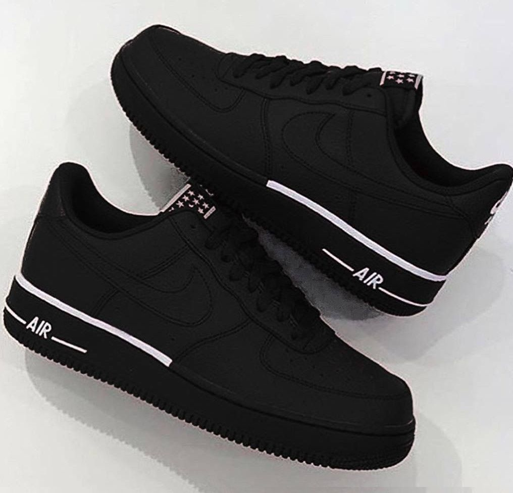 Nike Air Force 1 Black Matt | Hot Summer Time | Shoes