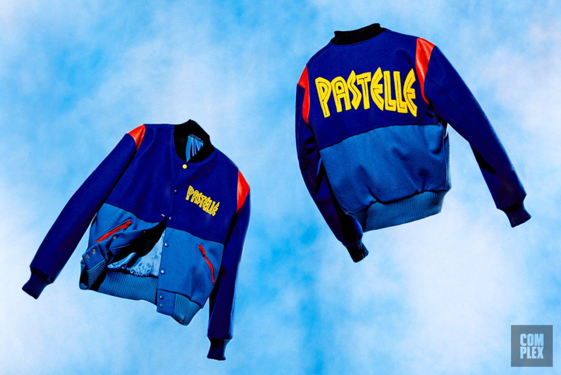 Kanye West Pastelle Fleece Jacket One Clothing Varsity Jacket Kanye West