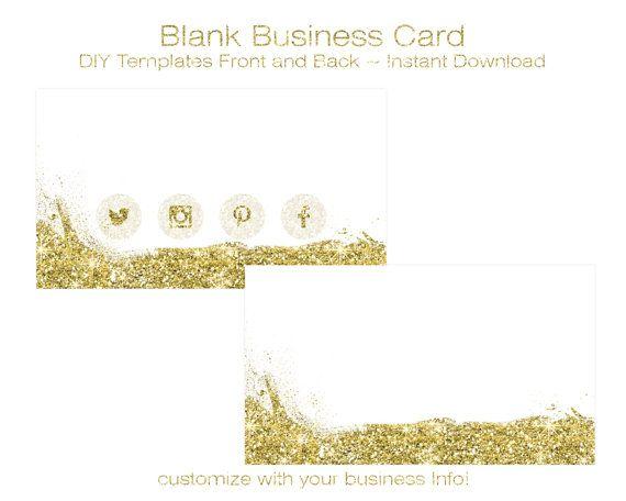 Business Card Template  Diy Blank Business Card Standard Size