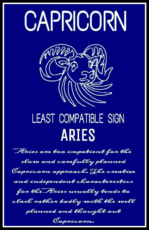 Least compatible with aries