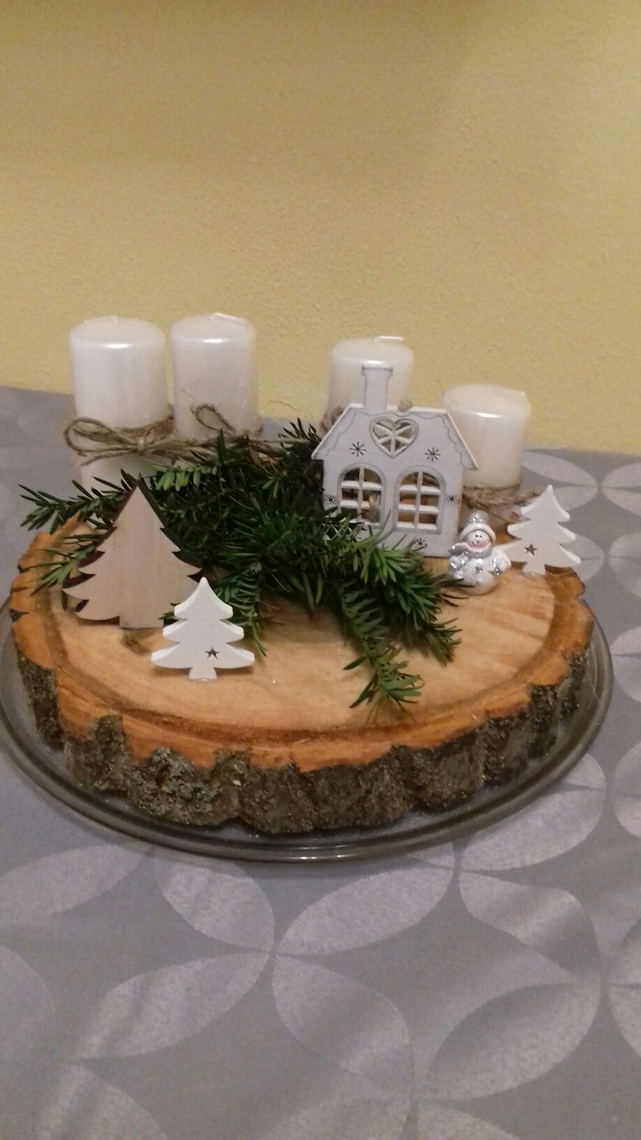 #rustikaleweihnachtentischdeko