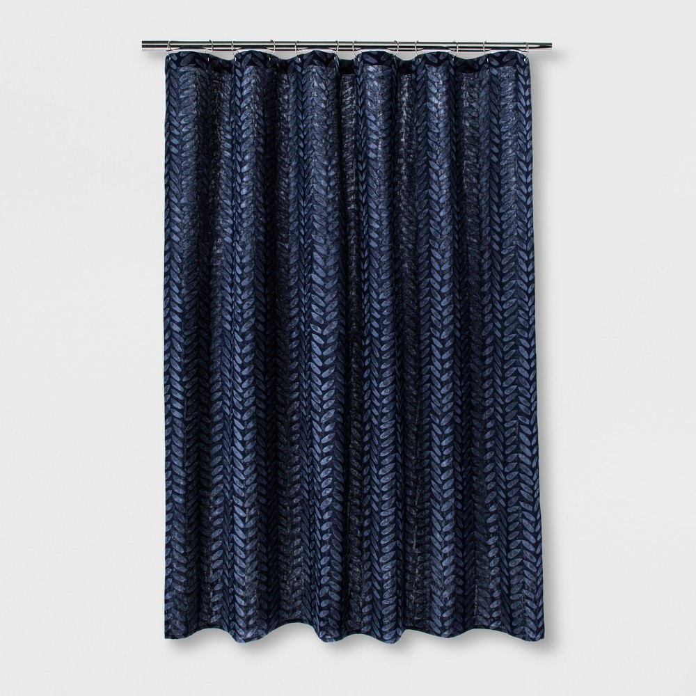 Woven Shower Curtain Painterly Blue Project 62 Adult Unisex
