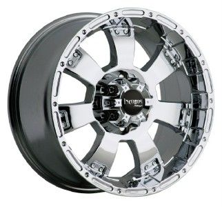 17 inch 17x9 Incubus Krawler chrome wheels rims 6x135