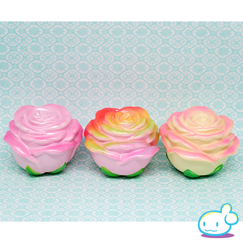 Squishy Muffinz Rose : Approx. 9cm These soft baby rose squishies are covered in shimmery, squishy petals. They have a ...