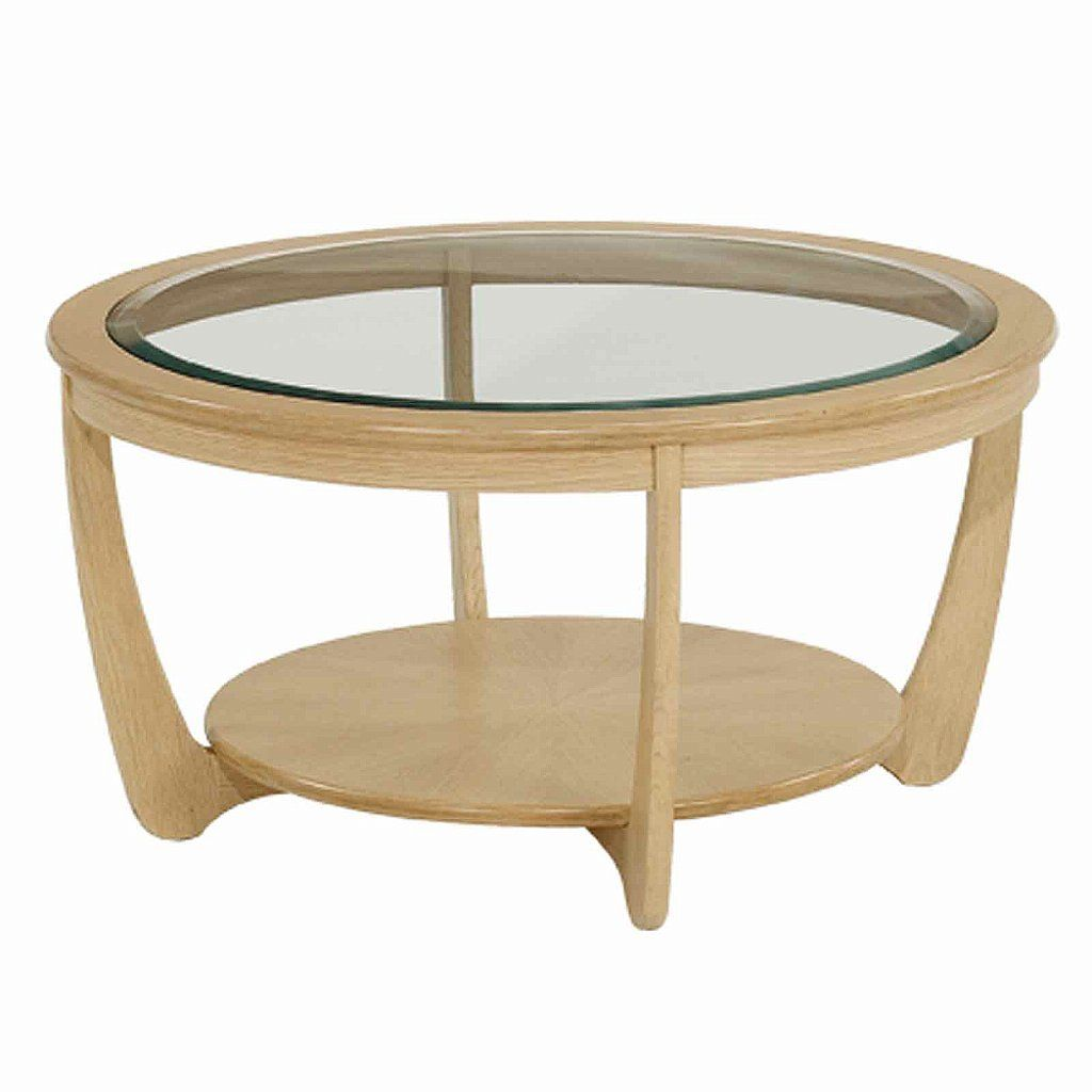 Round Oak Glass Top Coffee Table Oak Coffee Table Round Coffee
