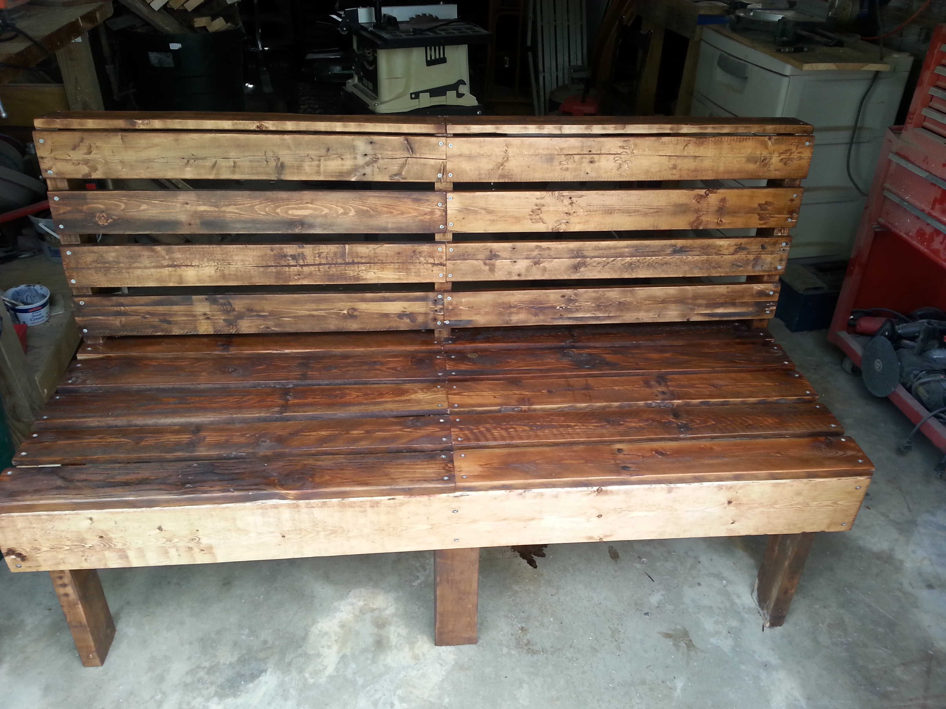 Pallet Bench | Recycled Pallets Ideas & Projects | Pinterest | Water ...