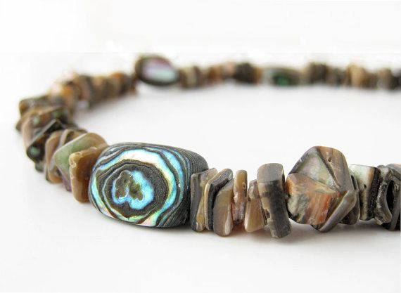 Surfer dad necklace  abalone shell necklace for by AuthenticMen, $62.00