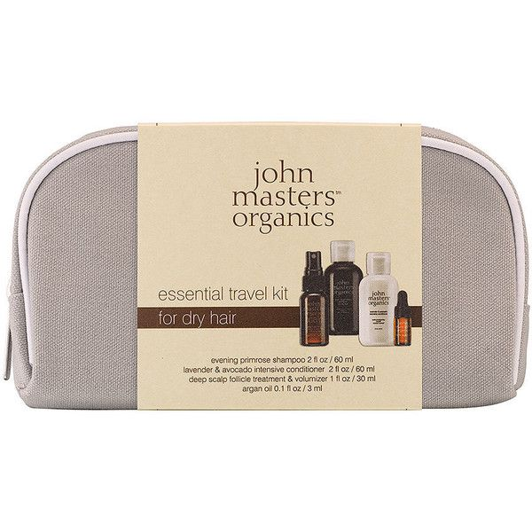 john masters organics Essential Travel Kit for Dry Hair 5.1 oz (151... ($28) ❤ liked on Polyvore featuring beauty products, haircare, toiletry kits, make up purse, travel dopp kit, travel toiletry case and dop kit