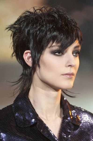 Bangs And Mullet Haircut Hair Pinterest Hair Short Hair