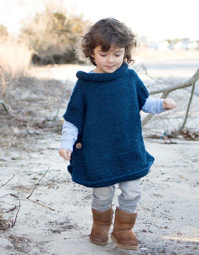 Easy Kids Poncho Knitting Pattern | My Must Makes | Pinterest ...