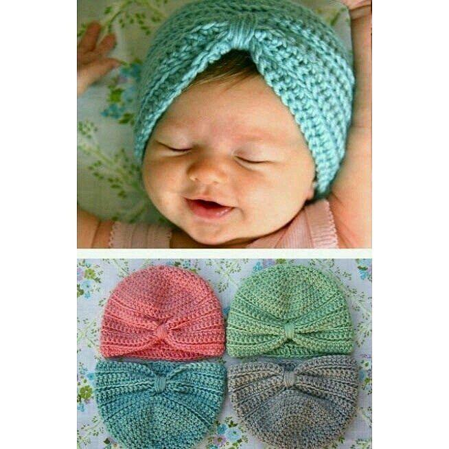Ahora vamos con este turbante para bebes. Es muy chulo y fácil de ...