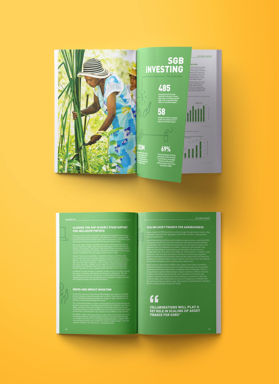 Laura Lin - Visual Designer - ANDE Impact Annual Report // Print #annualreports