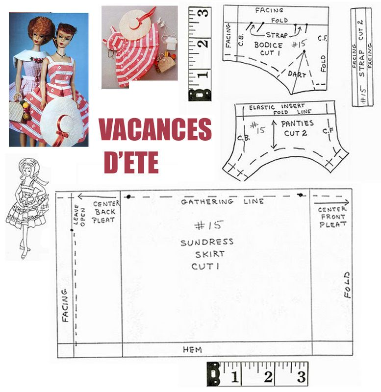VACANCES_ETE | Doll Patterns Barbie and Ken | Pinterest | Barbie ...