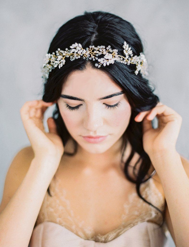 selene headpiece - gold | headpieces, maggie wu and rose gold weddings