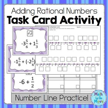 Rational Number Addition Task Card Activity Rational Numbers Activities Task Card Activities Rational Numbers Rational and irrational worksheets